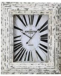 Shabby Chic Wall Clocks by Great Deals On Gift Craft Weathered Wood Frame And Glass Wall