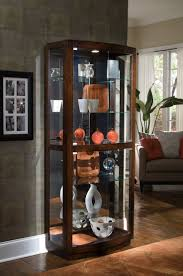 curio cabinet curved corner curiot contemporaryts stunning image
