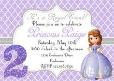 sofia chevron birthday invitation sofia birthday sofia