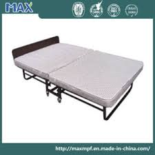 Metal Folding Bed China Hotel Double Queen Size Folding Bed China Metal Folding
