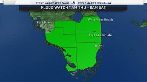 Weather Map Florida by Flood Watch Issued Through Saturday For South Florida As Heavy