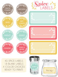 a set of 58 spice labels complete with several blanks for you to