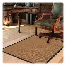 flooring appealing rectangle brown fiber desk chair floorats