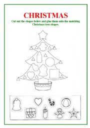 worksheet shapes christmas tree