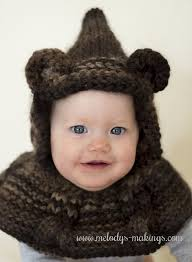 newborn pattern video cabled bear hooded cowl knitting pattern new pattern with all