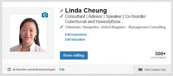 how to create best linkedin profile how to customize your linkedin public profile url linda cheung