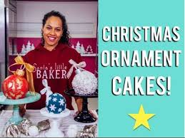 how to make ornament cakes with eggnog buttercream and