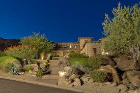 drought resistant landscaping exterior southwestern with boulder