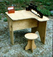 Portable Shooting Bench Building Plans Aff Wood Guide Portable Shooting Bench Plans