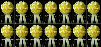 Pew Decorations For Wedding Set Of 14 Yellow Wedding Bows Pew Bows Church Decorations
