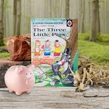 personalised ladybird book children pigs