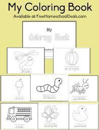free download coloring book preschool early kindergarten