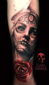 and day of the dead on forearm dead tattoos