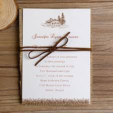 burlap wedding invitations neutral tree burlap layered wedding invitations ewls017 as low as