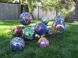 garden mosaic ideas ideas for spectacular diy garden balls garden lovers club