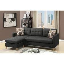 Cheap Black Leather Sectional Sofas Black Sectional Sofas For Less Overstock