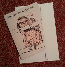sloth valentines day card sloth s day card sloth and