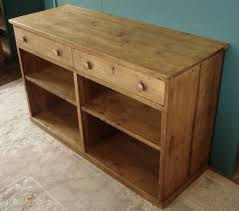 Old Pine Furniture Open Front Two Drawer 5ft Antique Pine Dresser U2013 Coppice Old Pine