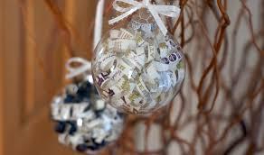 turn an invitation into a keepsake ornament craft