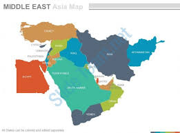 middle east map ppt maps of middle east region continent countries in powerpoint