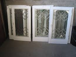 Kitchen Cabinet Salvage Leaded Glass Doors