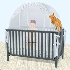 Baby Crib Bed Baby Crib Tent Safety Net Pop Up Canopy Cover Never Recalled