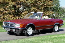 convertible mercedes red mercedes benz 350sl convertible auctions lot 5 shannons