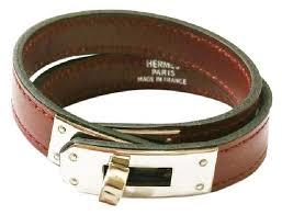 hermes bracelet leather images Herm s oxblood silver kelly double tour palladium turn bracelet jpg