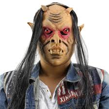 aliexpress com buy horror funny red eyes devil latex mask with