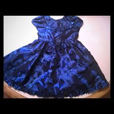 80 jona other royal blue fancy toddler dress from