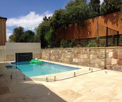 fence design frameless glass pool fence how high does have to