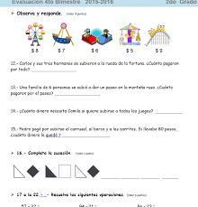 examen montenegro 3 grado primaria examen bloque 4 para 2 grado 2015 2016 planeaciones didacticas