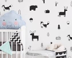 Nursery Wall Decals Animals by Woodland Wall Decals Nursery Decals Forest Decals Tree