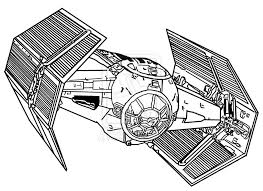 Tie Fighter Colouring Pages Bebo Pandco Darth Vader Coloring Pages