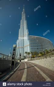 dubai city landscape the burj al khalifa tower stock photo