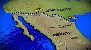 map usa y mexico no es factible ni positivo un muro entre estados unidos y méxico