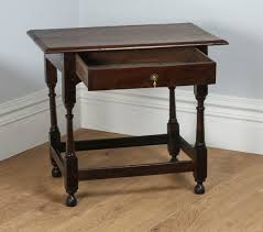 antique english georgian 18th century style country oak side table