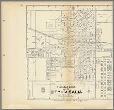 Map Of Cities In California Thomas Bros Map Of City Of Visalia California David Rumsey