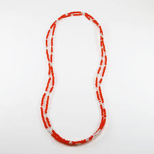 orange bead necklace images Long seed bead necklace or wrap bracelet jpeg
