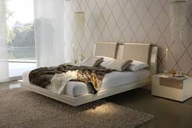 bedroom good floating bed frame with mattress and night stands