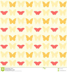seamless pretty yellow butterfly pattern stock vector