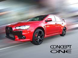 mitsubishi evolution concept concept one wheels innovative technology
