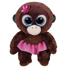ty beanie boo plush nadya monkey 15cm toys u0026 games