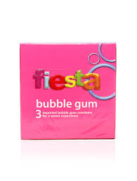 kondom fiesta buble gum box 3 pcs