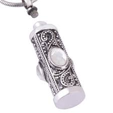 urn pendants cremation necklace antique silver memorial keepsake ashes urn