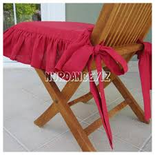 Shabby Chic Chair Pads by Chair Cushions With Ties Ruffle Linen Chair Cushion Covers 3