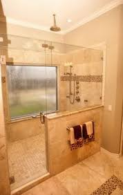dimensions for bath with doorless shower 3x5 minimum but will