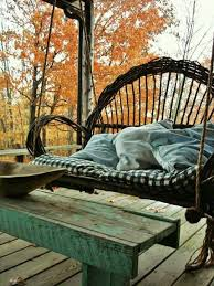 Rattan Swing Bench 15 Wicker Swing Ideas For Your Outdoor Space Shelterness