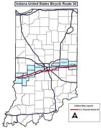 map us route 1 three u s bicycle routes to cross indiana promoting tourism and