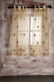 Amazon Bedroom Curtains Buy Sheer Curtain Gold Flower Embroidery Window Online At Low